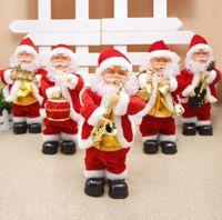 Электрический Санта Клаус Игрушка Рождество Электрические Танцы Музыка Санта-Клаус Рождество куклы для детей партии Рождество Мультфильм аксессуары GGA3561