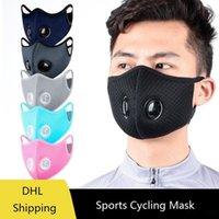 Ciclismo máscara protectora Filtro de carbón activado PM2.5 a prueba de polvo Máscara Anti polución prueba de viento de la bici del deporte Máscaras DDA235