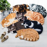 3D Cat Shape Carpet Rug Animal Print Carpets for Living Room...