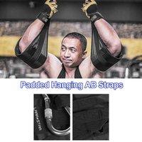Acessórios 1Pair Acolchoado Pendurado AB Corta Abdominal Muscle Belt Treinamento Horizontal Cantilever Band Puxar Sit Ups Chin-Up Bar para Fitness