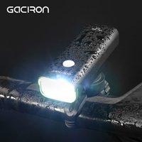 자전거 조명 Gaciron 방수 800 루멘 자전거 라이트 USB 충전식 MTB 도로 핸들 바 헤드 라이트 2500mAh 전면 LED 램프