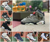 Homens Basquetebol Shoes UNC 6 Alternate Hare Olive Black Sneakers Infravermelho Jumpman Stylist Sapatos Tinker Black Trainers