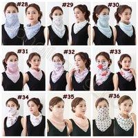 Floreale stampato Sciarpa Maschera 40 colori Anti-UV chiffon sciarpa Outdoor Sport Ciclismo maschera di protezione 120pcs di estate delle donne Bandana CCA12370