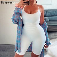 Beyprern Sexy Solid Bandage Playsuit New Women Strap Workout...