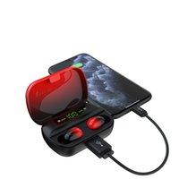 2020 Новый Trending Мода Q61LX TWS BlueTooths Earbuds BT5.0 Сенсорное управление Индикатор питания Дисплей Лучший Красочные Игровые наушники