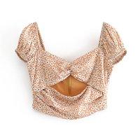 Sexy Vintage цветочные печати Женщины блузка рубашка Holiday Beach Summer Style Tops Cute V-образным вырезом Элегантный печати тонких блузок