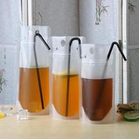يختم شفافة صلاة الحقائب واضح المشروبات حقيبة متجمد الذاتي القهوة حليب عصير شرب أكياس بلاستيكية EEA1782 المحمولة البلاستيك
