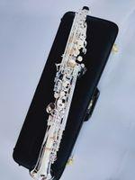 Yanagizawa S-992 المستوى المهني جديد مستقيم اليابان الفضة مطلي السوبرانو ساكسفون BB الموسيقية مع اللسان