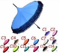 Golf Umbrella Spitze elegant Halbautomatische Fancy sonnig und Regen Pagode Regenschirme 14 Farben vorhanden DHL-freies Verschiffen 213