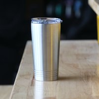 16oz Pint Tumbler Vacuum Insulated Pint Cup Stainless Steel Travel Beer Coffee Car Mugs with Lid c02