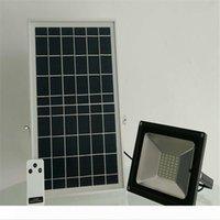 Пульт дистанционного управления Холодный белый 50W Solar LED Прожектор Прожектор Водонепроницаемый Открытый Пейзаж сада Улица Площадь света