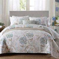 Qualità ha stampato il copriletto trapuntato Piumone 3PC Bedding Cotone Trapunte copriletto compreso federa King Size Coverlet Blanket