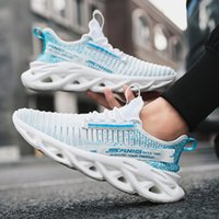 High Quality Fashion Twist Sole Running Shoes Flying Woven Breathable Mens Shoes Personality Wild Comfortable Casual Sport