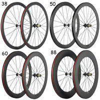 Novatec Hub + 38/50/60/88 milímetros de carbono rodado + 3K Fosco Com basalto freio superfície do carbono de bicicleta de estrada rodado