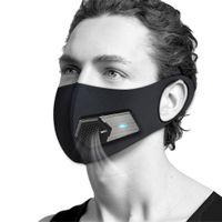 PM2.5 Maschera antipolvere Smart Fan Maschere ventilatore elettrico Anti-inquinamento Allergia Polline Allergy Traspirante Cover protettiva viso Multi Livelli Proteggi