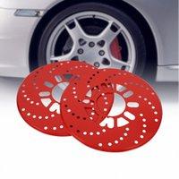 2017 Nuevo 1 Ajuste automático de aluminio del freno de disco del rotor ajuste decorativo Covers reequipamiento 26cm Rojo nqLk #