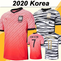 2020 Coréia Mens Futebol Jerseys Nova Equipe Nacional U J Hwang I B Hwang C H Kwon H M Filho Home Red Away Branco Camisa de Futebol Adulto Uniformes