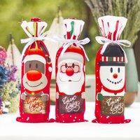 زينة عيد الميلاد هدية هدية حقيبة المطبخ عيد الميلاد الديكور مجموعة زجاجة غطاء العشاء الجدول 1 قطع