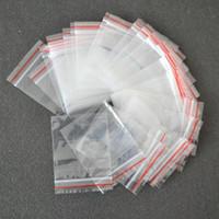4 * 6cm / 5 * 7cm / 6 * 8cm Limpar sacos de embalagem de plástico sacolagem vermelha self self self saco zíper do zíper mini bolsa de grânulos de jóias