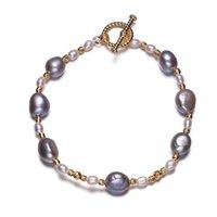 Стрендки жемчужные браслеты натуральные пресноводные манжеты красочные барочные бисером ювелирных изделий подарок для женщин девушки рука декоративный