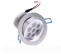 7x1W LED Decken Spot-Licht Lampe Erröten-Einfassung 7W dimmbare 110V-220V für Supermarkt Badezimmer Innen Lampada Dekoration warmes Weiß CE FCC LLF