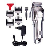 KM-1986 Barber Профессиональная машинка для стрижки волос Maquina De Cortar Pelo Электрический Cordless LCD Триммер Золото Серебро волос резки DHL