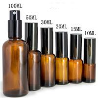 Frascos de armazenamento frascos 10ml 15ml 20ml 30ml 50ml 100ml mini vidro âmbar esvaziamento pulverizador frasco de perfume recarregável cosméticos de óleo contêm