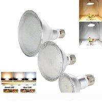 E27 디 밍이 가능한 LED 스포트 라이트 전구 2835 SMD PAR20 PAR30 PAR38 14W 24W 30W 따뜻한 흰색 램프 밝은 옥수수 빛 높은 전원