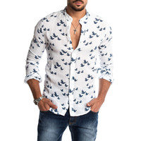Mens Fashion Casual Printed Shirts Social Summer Hawaiian Sl...
