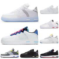 Lumière os 1 React chaussures de course triple blanc loup gris USA Astronomy bleu formateurs des femmes des hommes de sport chaussures de sport de jogging marche coureurs