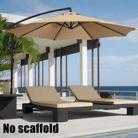 2M Parasol Patio Sunshade Umbrella Cover for Courtyard Swimming Pool Beach pergola Waterproof Outdoor Garden Canopy Sun Shelter