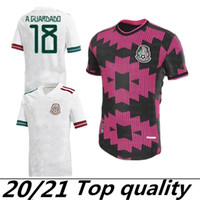 Casa Rosa Preto 2020 México Futebol Jersey Nacional Novo Away Branco 19 20 Preto Chicharito Lozano Guardado Carlos Vela Raul Futebol Camisas