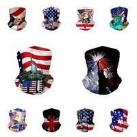 حار باندانا الجمجمة قناع الوجه 3D علم الولايات المتحدة الأمريكية ماجيك الأوشحة الرياضة في الهواء الطلق ركوب الدراجات العصابة العمامة الحجاب مصمم MasksT2I51245