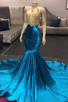 Affordable Spaghetti Straps V- Neck Lace Royal Blue Prom Dres...