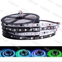 La bande LED DC5V 12V 24V WS2813 5050 SMD 60LEDs 30LEDs m m RGB LED ruban 5 M Magic Dream orientable couleur numérique DHL