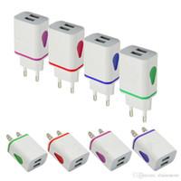 2020 جديد ضوء الفلاش المزدوج منافذ USB لنا AC جدار المنزل السلطة محول شاحن 2.1A + 1A لسامسونج note10 S10 S9 S8 note9 note8