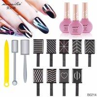 12 pcs / Set prego forte efeito Magnet Gel do olho de gato 3D Art ferramenta Vara Polish Nails Art Manicure Magnetic Magnet Vertical vara Pen