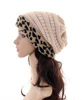 11color 레오파드 니트 모자 여성 겨울 레오파드 패치 워크 니트 비니 모자 해골 크로 셰 뜨개질 남여 모직 모자 새로운 GGA3604 캡 [웜