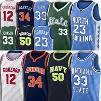 NCAA Michael Jersey Earvin Larry Johnson Kuş Formaları David Charles Robinson Barkley Gömlek John Gary Stockton Payton Basketbol Jersey 7-30