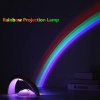 Novetly Gökkuşağı Projeksiyon Lambası Dekompresyon Romantik RGB LED Gece Işığı Çift Kız Lover Çocuk Doğum Hediye Yaratıcı Ev Dekorasyon