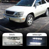 2PCS LED ضوء النهار تشغيل Lexus RX300 RX330 RX350 1998 1999 2000 2001 2002 2002 2003 DRL FOG مصباح الديكور