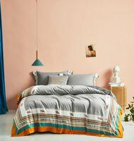 Nuevo tamaño 4Pieces reina rey cama determinada 1000TC egipcio cubierta conjunto edredón de algodón suave Bedsheet la funda de almohada