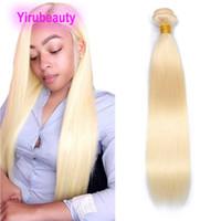 브라질 인도 인간의 머리 613 # Blonde One Bundle 1 조각 / 로트 스트레이트 인간의 머리카락 확장 이중 위사가 직선 번들 10-40inch