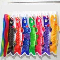 أنبوب الكارب العلم المبروك كاربيو Nobori كوي Koinoboris نمط اليابانية اللون الشريط البوليستر طويل لافتات الملون المعلقة 40mq C2