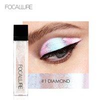 FOCALLURE 14 Couleurs liquides Pigment Eyeshadow océan lumière imperméable Glitter surligneur Brighten Shimmer Maquillage Eyeshadow liquide