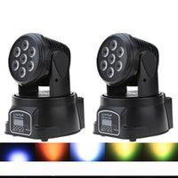 Moving Head RGBW Sahne Aydınlatma 9 14 Kanal Parti Disco göster 100W AC 100-240V Ses Aktif Noel Süsleri DMX-512 Mini