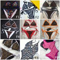 Mezcla de la manera 10 estilos Mujeres Trajes de baño bikini conjunto Multicolors horario de verano playa de baño trajes de baño de viento de alta calidad listos para ser enviados