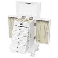 레트로 유럽 쥬얼리 상자 드레싱 테이블 침실 다기능 서랍의 가슴 단단한 나무 저장 캐비닛 로커 간단한