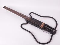 yürürlükte inşa akustik başsız katlanabilir elektrikli gitar portatif seyahat sessiz ücretsiz nakliye set