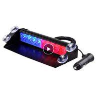 12V 8 LED röd blå gul vit bil strobe varning ljus brandmän Polis LED blinkande nödsignal ljus säkerhet dimlampa